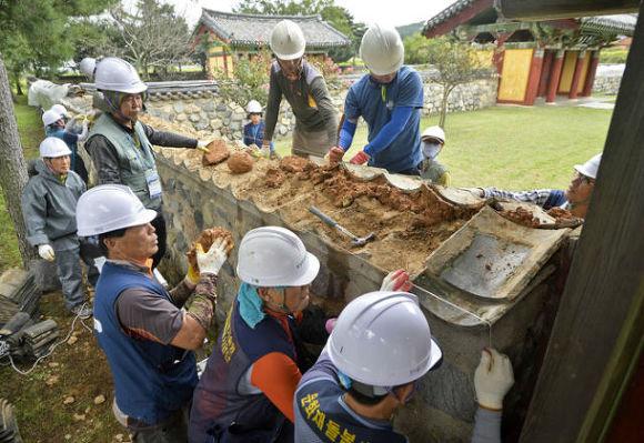 지진 복구작업