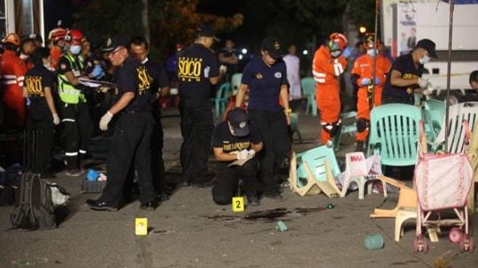 필리핀 다바오 폭탄테러 수습중