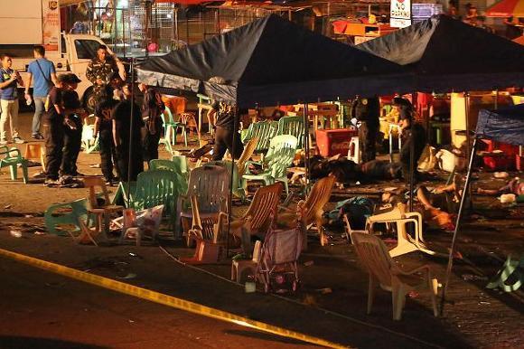 필리핀 다바오 폭탄테러 발생 현장