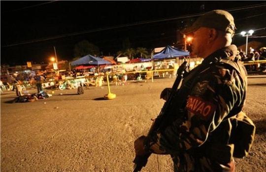 폭탄테러로 14명 사망 67명 부상한 필리핀 다바오