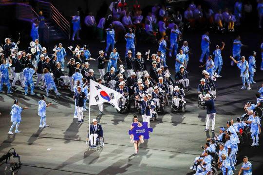 리우패럴림픽 개막식 한국 선수단 기수