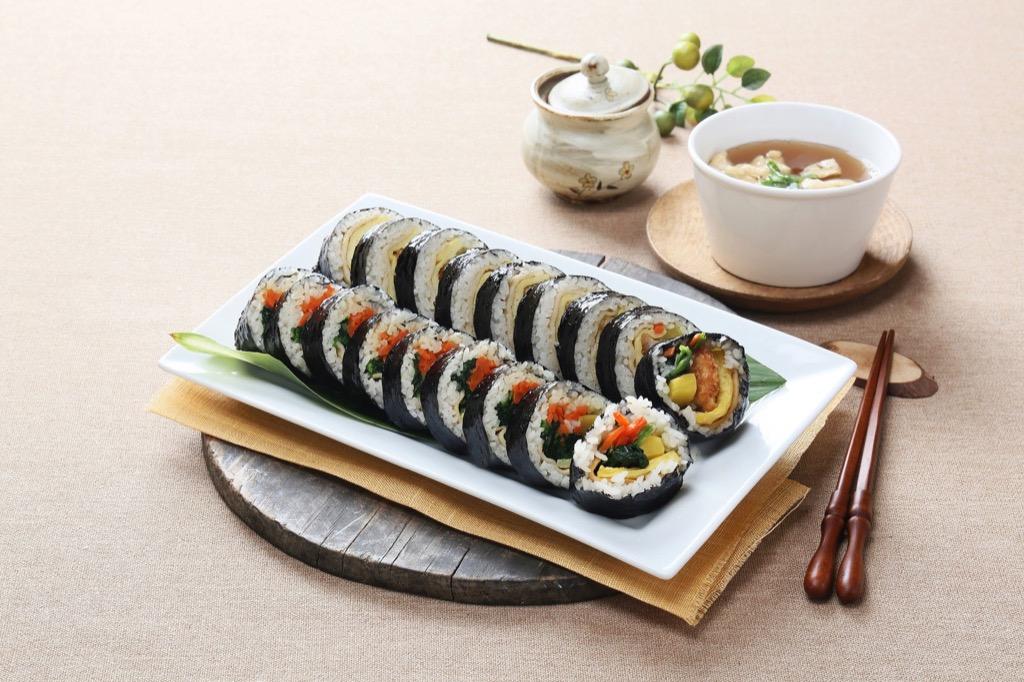 김밥 한줄 칼로리